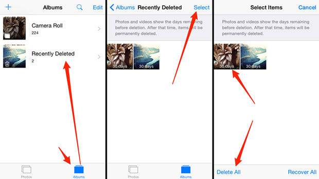 recover iPhone photos after emptying Recently Deleted