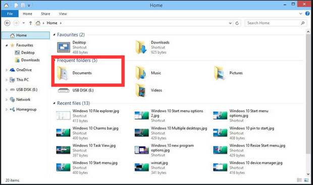recover missing documents files in Windows 10