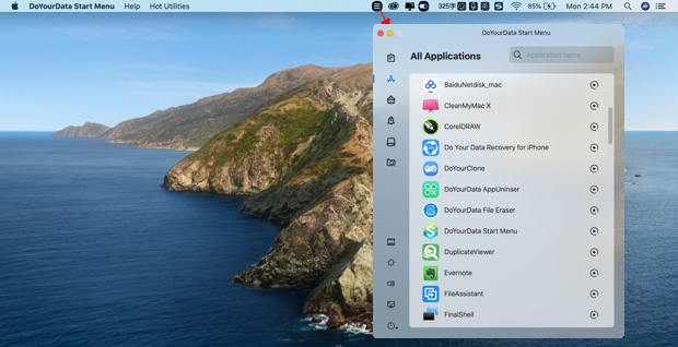 add Windows-style start menu in macOS 10.14 Mojave