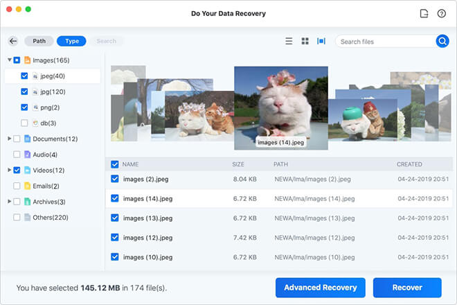 recover command + delete lost files from Mac